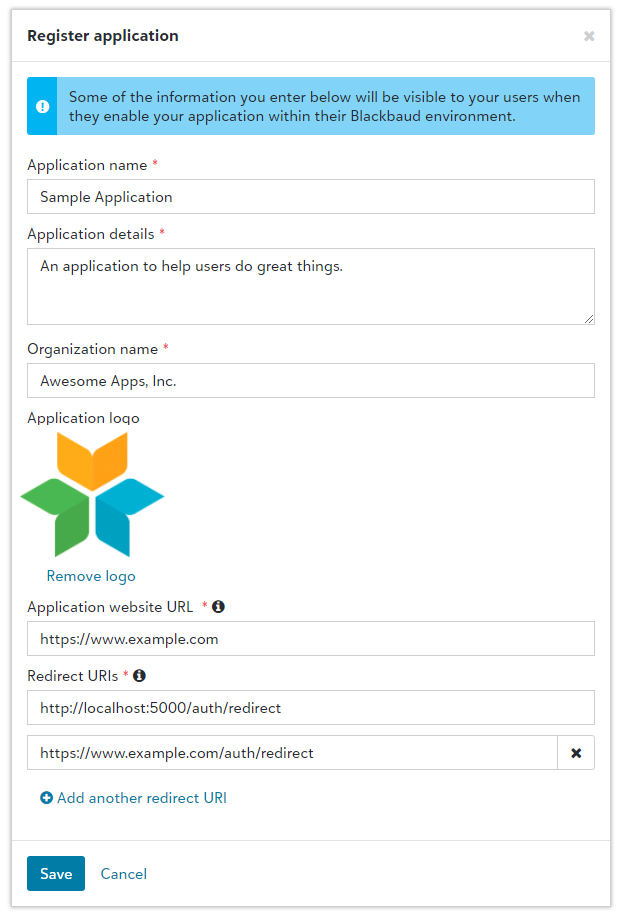 Authorization Code Flow - C#  NET Core - Blackbaud SKY API Developer
